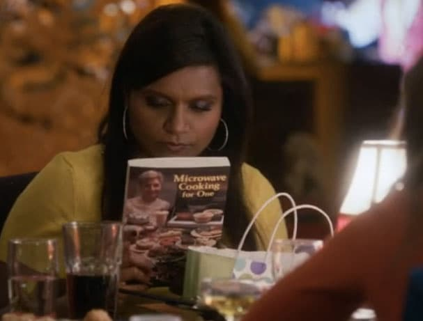 microwave cooking for one, mindy project